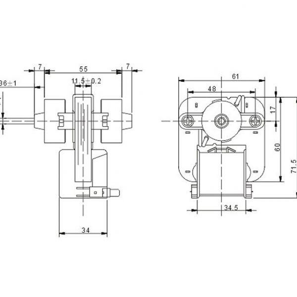 Shaded Fan Motor 2J01289B