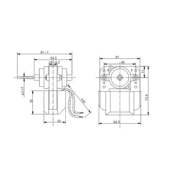 Shaded Fan Motor MA-61103D-2Z