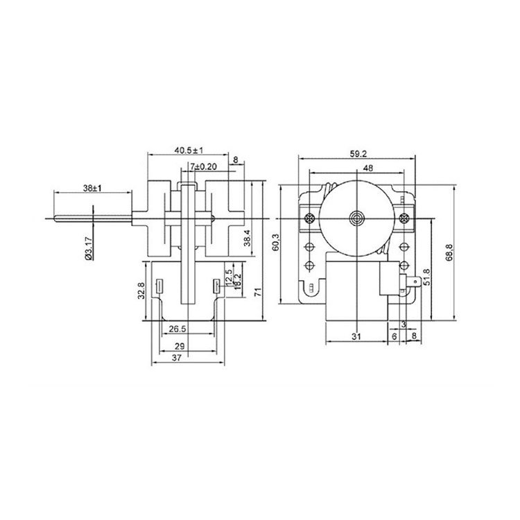 Shaded Pole Motor MH07BCF-TJA5