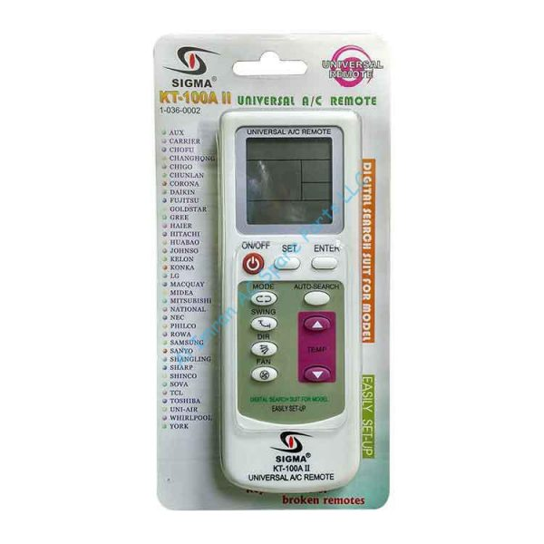 Universal A/C Remote – KT-100