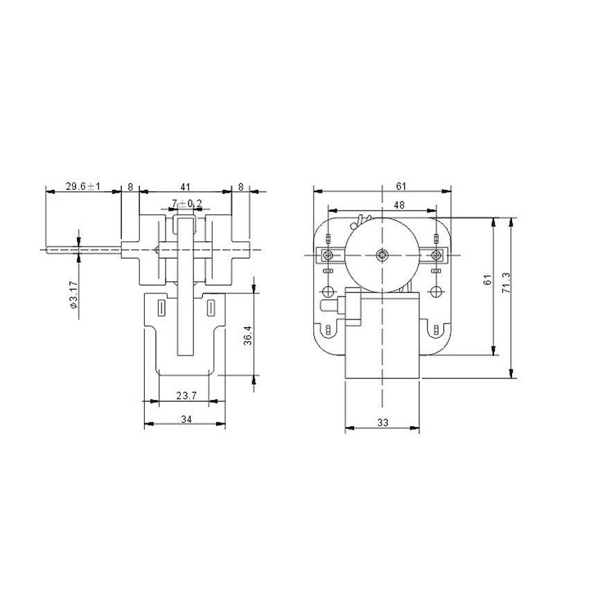 Shaded Pole Motor YZF-61-7-R-A