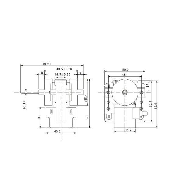 Shaded Fan Motor ZYD-02J18